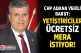 """CHP Adana Vekili Barut: """"Yetiştiriciler ücretsiz mera istiyor!"""""""