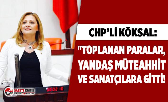 """CHP'li Köksal: """"Toplanan paralar, yandaş..."""