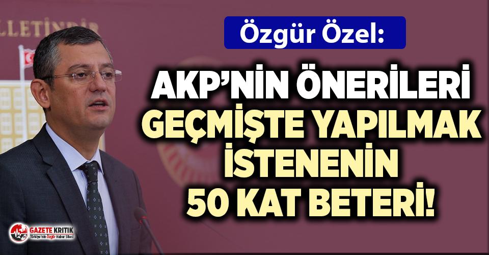 CHP'li Grup Başkanvekili Özel'den, AKP'nin baro düzenlemesi ısrarına tepki!