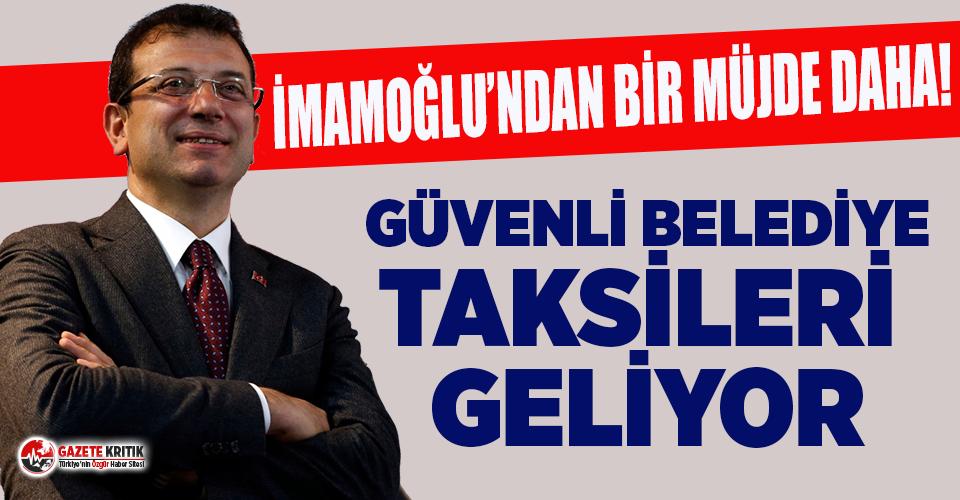Ekrem İmamoğlu'ndan İstanbullulara bir müjde...