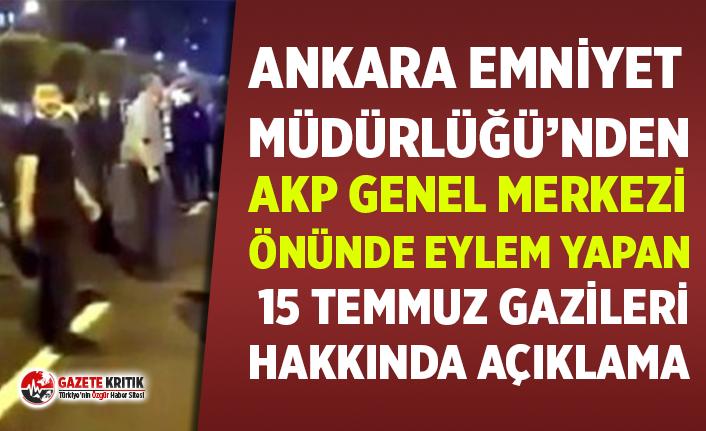 Emniyet Müdürlüğü'nden AKP Genel Merkezi...
