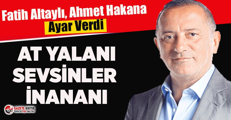 Fatih Altaylı'dan Ahmet Hakan'a yanıt:...