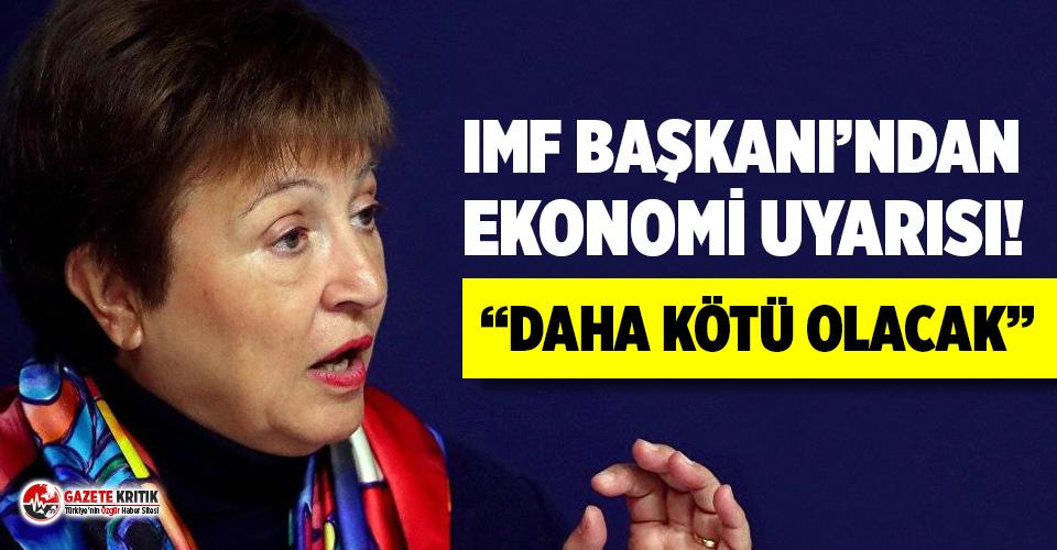 IMF Başkanı Georgieva'dan ekonomi açıklaması:...