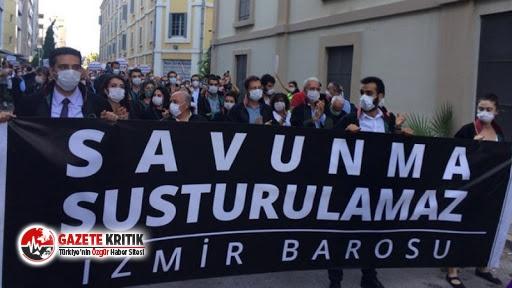 İzmir Barosu önünde avukatlardan oturma eylemi:...