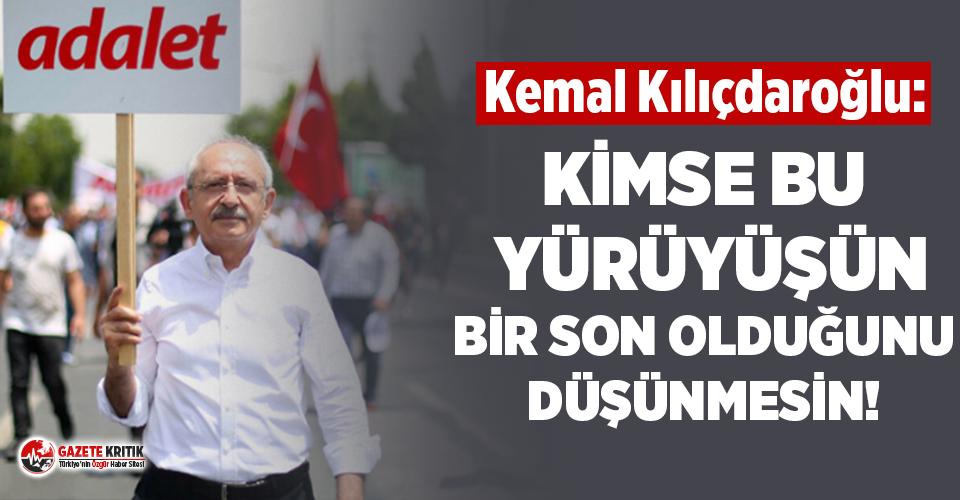 Kılıçdaroğlu'ndan 'Adalet Yürüyüşü'...