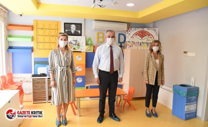 Konyaaltı Belediyesi Kreşi öğretmenleri izole...