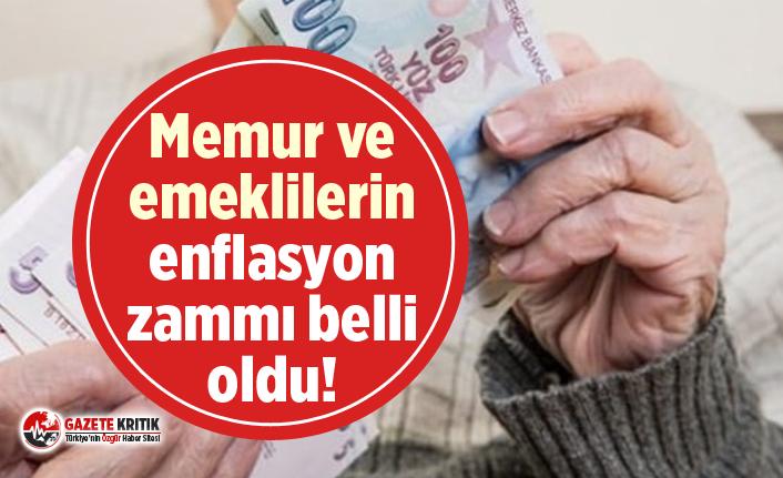 Memur ve emeklilerin enflasyon zammı belli oldu!