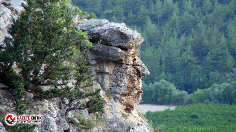Mersin'de bir kaya parçası Trump'a benzetildi!