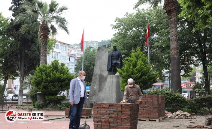 Mudanya Cumhuriyet Meydanı Projesi'nin İlk Etabı Başladı