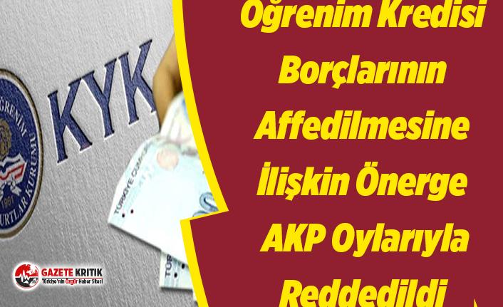 Öğrenim Kredisi Borçlarının Affedilmesine İlişkin Önerge AKP Oylarıyla Reddedildi