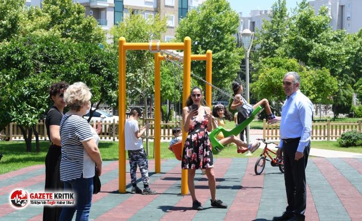 Parkları dolduran çocuklara sürpriz ziyaret…