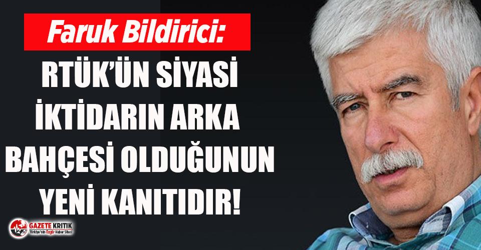 RTÜK eski üyesi Bildirici'den Şahin'in Halkbank atamasına tepki!