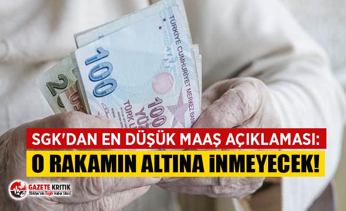SGK'dan en düşük maaş açıklaması: O rakamın altına inmeyecek!