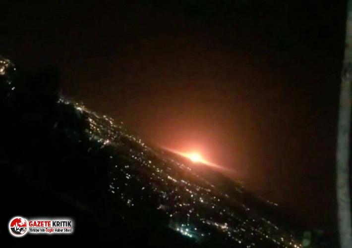 Tahran'da korkutan patlama!