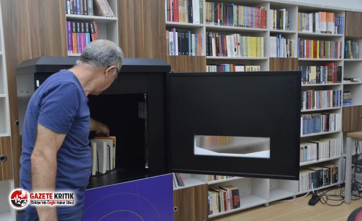 Yenişehir Belediyesinden kitap dezenfeksiyon cihazı