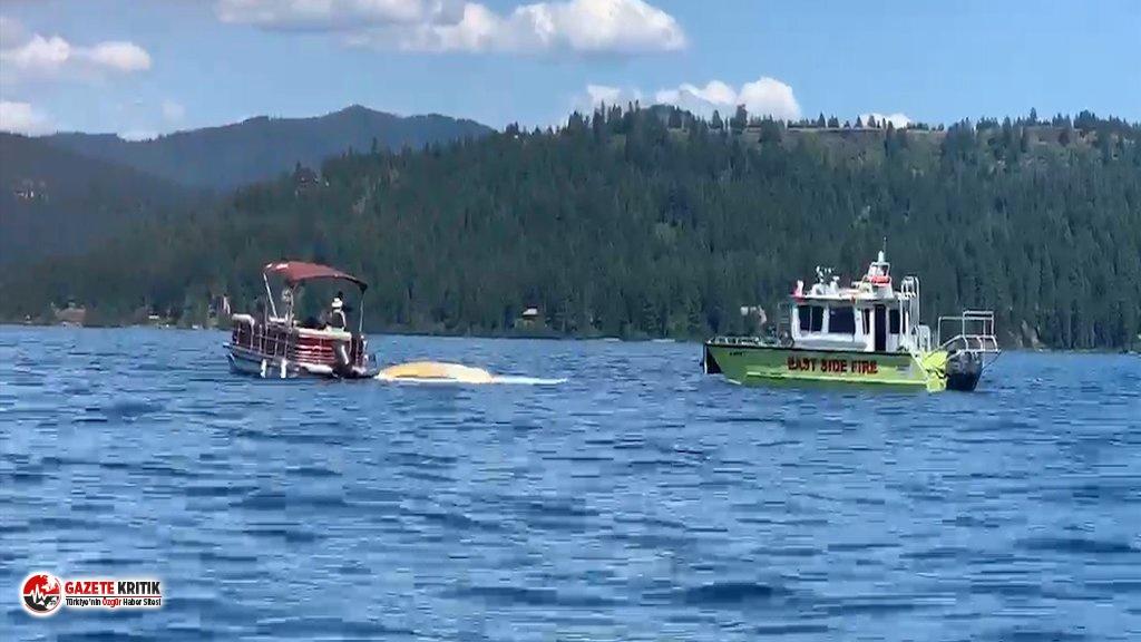 ABD'de 2 uçak gölün üstünde çarpıştı:...