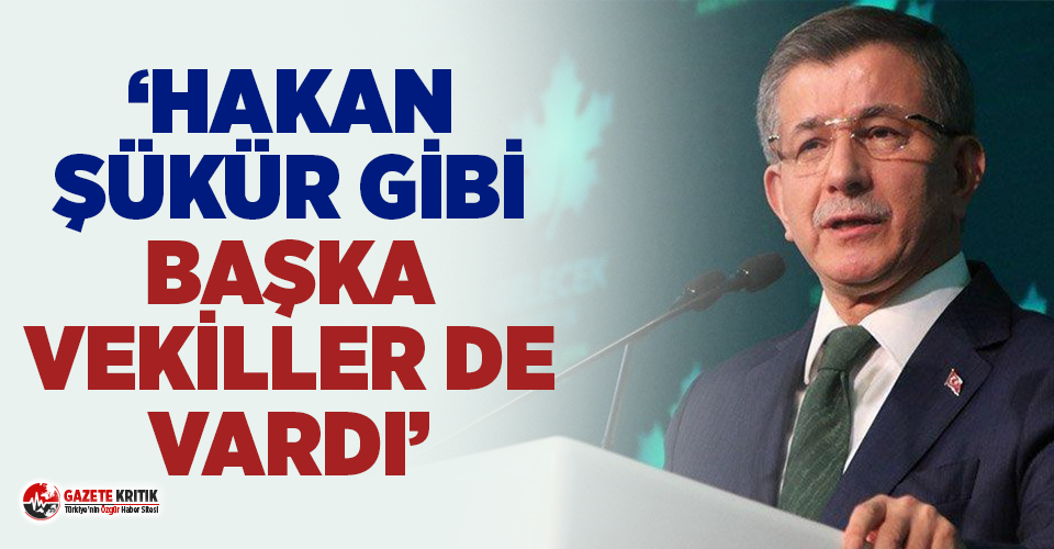 Ahmet Davutoğlu'ndan FETÖ'nün siyasi ayağı açıklaması!