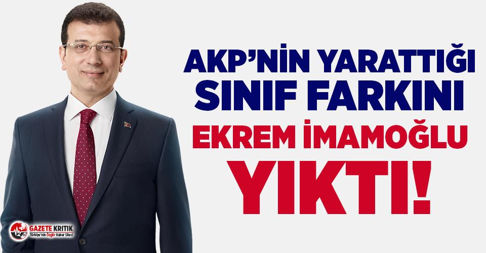 AKP'nin yarattığı sınıf farkını Ekrem...
