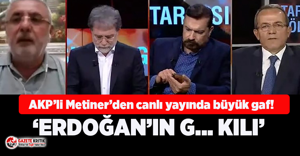 AKP'li Mehmet Metiner'den CNNTürk'te büyük gaf!