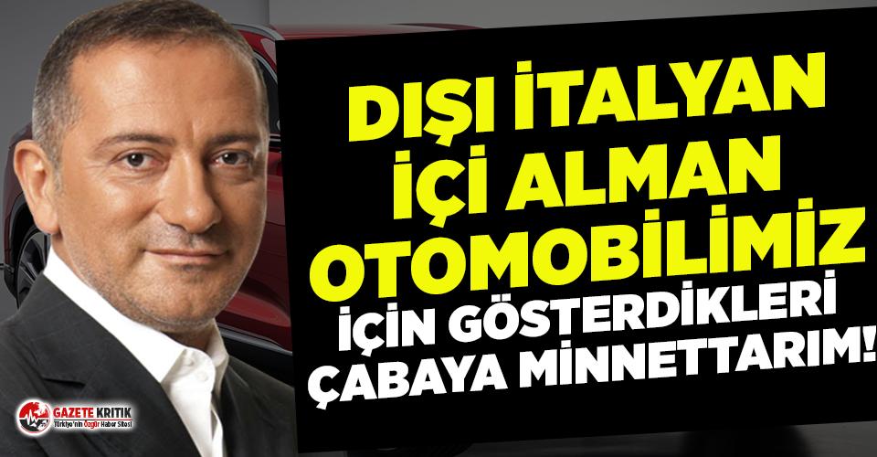 Altaylı: Dışı İtalyan içi Alman otomobilimiz için gösterdikleri çabaya minnettarım!