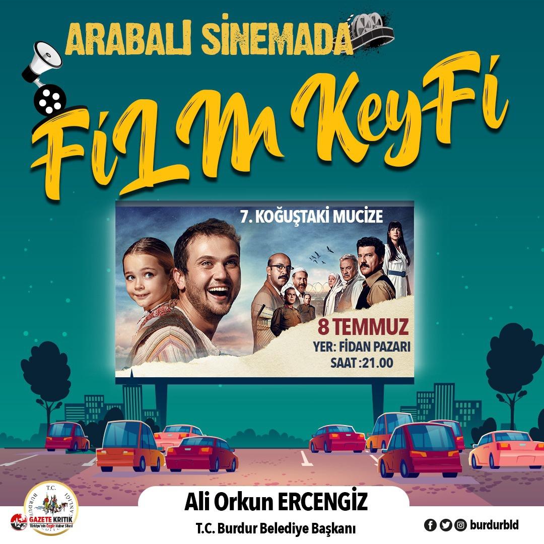 Burdur'da Arabalı Sinema Keyfi Başlıyor