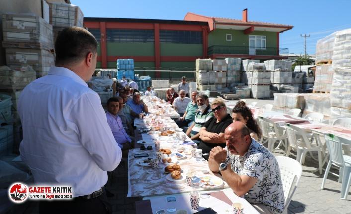 Başkan Ercengiz, Mahrukatçılar Sitesi Esnaflarıyla bir araya geldi