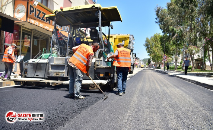Bornova'da yollar yenileniyor