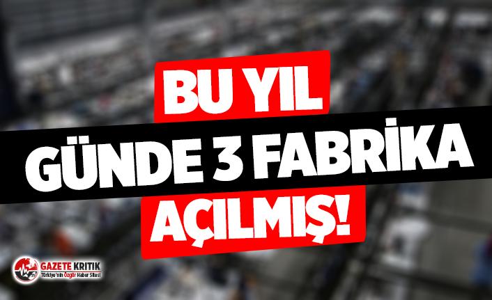 Ekonomide flaş tablo: Bu yıl günde 3 fabrika açılmış!
