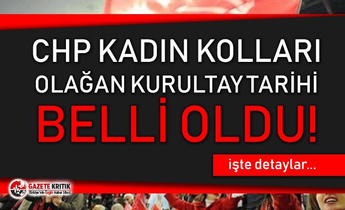 CHP Kadın Kolları Olağan Kurultay tarihi belli...