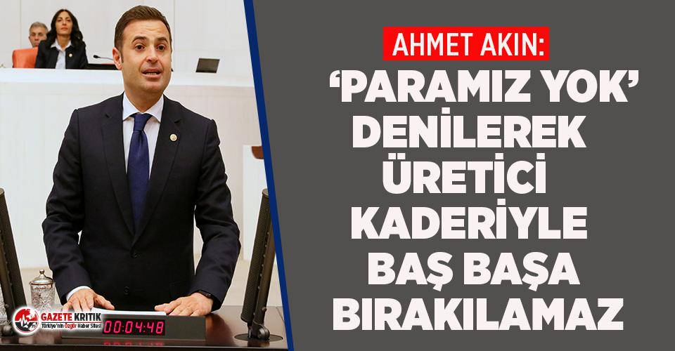 CHP'li Ahmet Akın zeytin üreticisinin sesi...