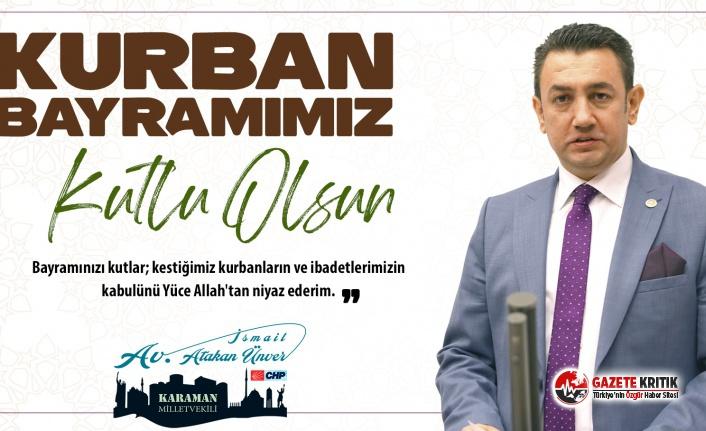 CHP'li İsmail Atakan Ünver'den Kurban...