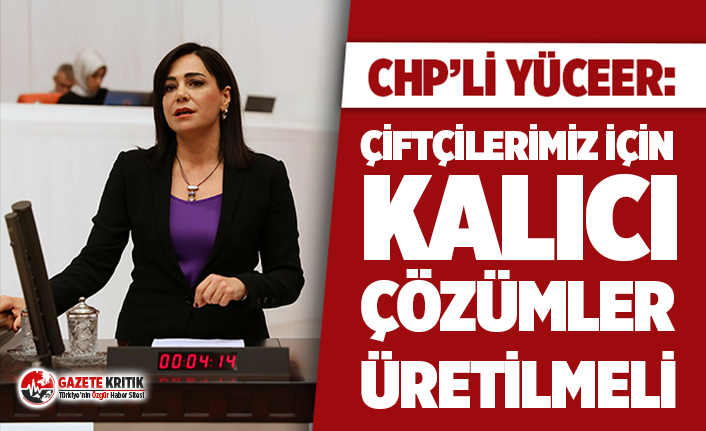 """CHP'li Yüceer: """"Çiftçilerimiz için kalıcı çözümler üretilmeli"""""""