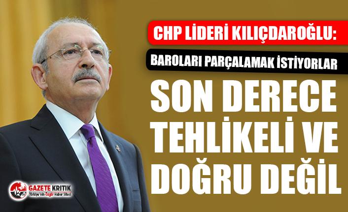 CHP Lideri Kılıçdaroğlu: Baroların yanındayız