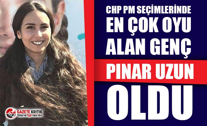 CHP PM seçimlerinde en çok oyu alan genç Pınar...