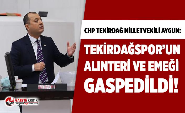 """CHP Tekirdağ Vekili Aygun'dan TFF'ye tepki: """"Tekirdağspor'un alınteri ve emeği gaspedildi!"""""""