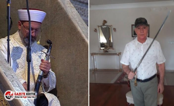 Eski milletvekili emekli kılıçla hutbe okuyan Diyanet...