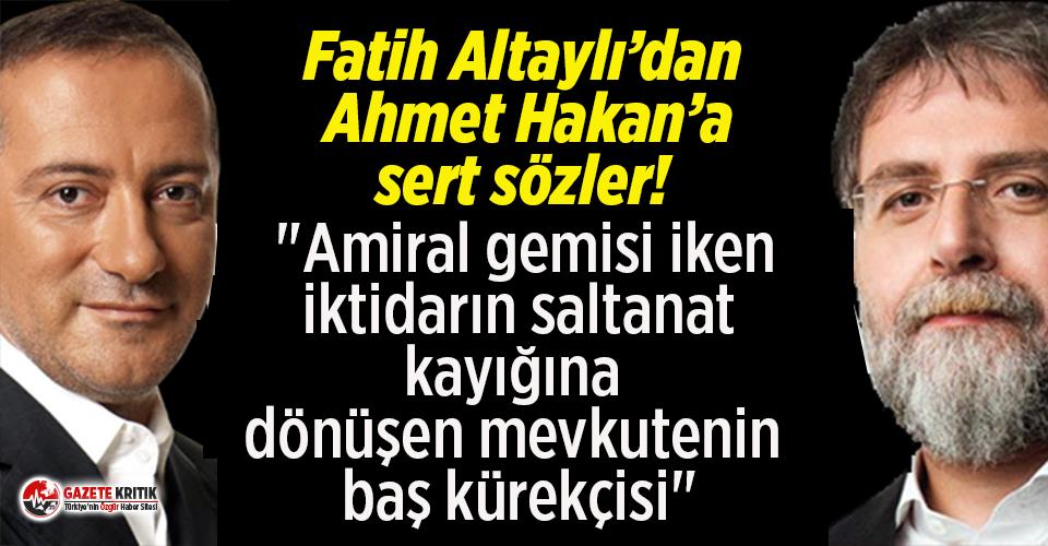 Fatih Altaylı'dan Ahmet Hakan'a çok sert...