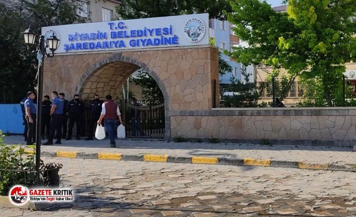 HDP'li Diyadin Belediyesi'ne polis baskını, eşbaşkan gözaltında!