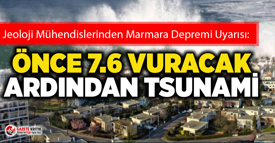 Jeoloji mühendislerin korkutan Marmara depremi uyarısı!