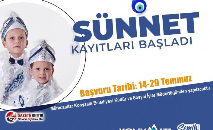 Konyaaltı Belediyesi'nin 'sünnet' kayıtları...