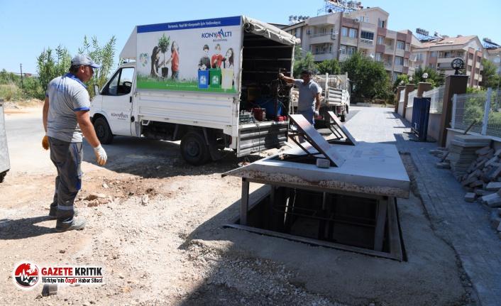 Konyaaltı'nda çöp konteynerleri yeraltına alınıyor