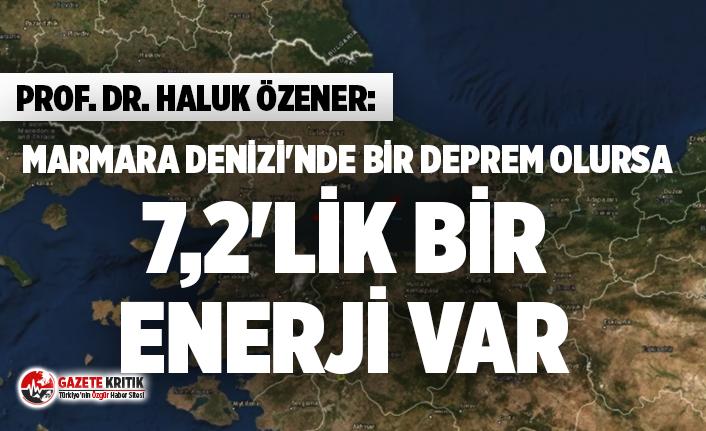 Prof. Dr. Haluk Özener: Marmara Denizi'nde bir...