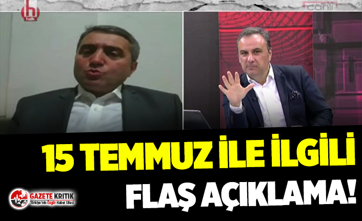 Selim Temurci'den flaş açıklama: 15 Temmuz...