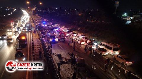 TEM Otoyolu'nda yolcu otobüsü devrildi: 1 ölü,...
