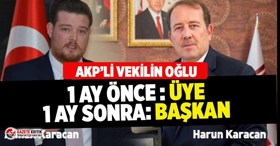 THK'da AKP'li vekilin oğluna atama kıyağı!