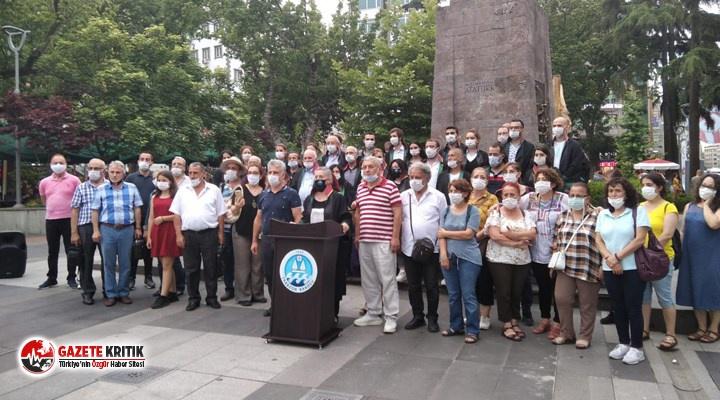 Trabzon Barosu çoklu baro sistemine karşı eylem...