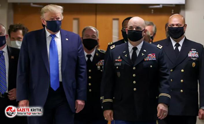 Trump ilk kez maske taktı!