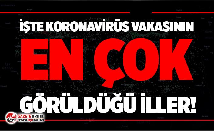 Türkiye'de Koronavirüs vakasının en çok...