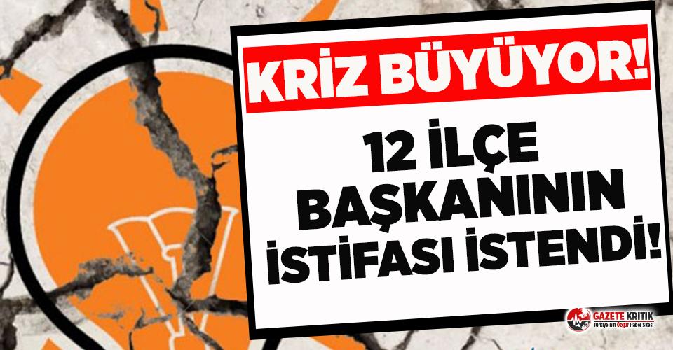 AKP'de çatlak derinleşiyor: Genel Merkez, 12 ilçe başkanının istifasını istedi