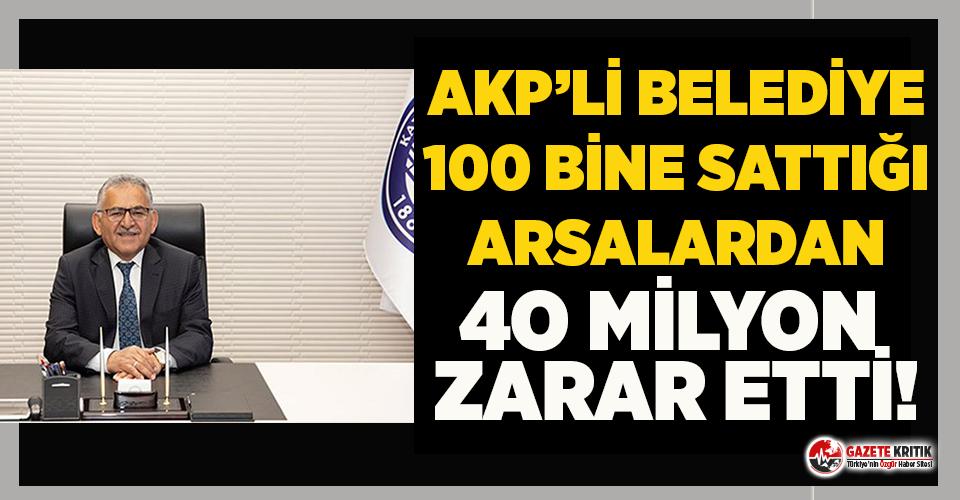 AKP'li Belediye'den acayip arsa satışı!